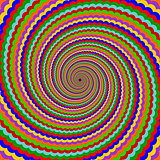 Design multicolor twirl rotation background. Abstract striped ge
