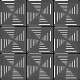 Design seamless monochrome checked pattern. Abstract geometric b