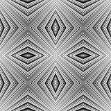 Design seamless diamond striped pattern. Abstract geometric mono