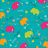 Seamless baby elephant pattern