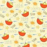 seamless boat pattern