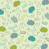 Cute seamless pattern with sheeps