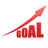 Goal red arrow