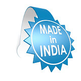 Made in India star label