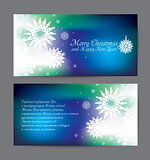 vector christmas blue holiday flyer