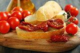 Sundried Tomato Bruschetta.
