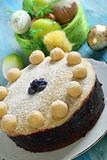 English Easter cake with marzipan.
