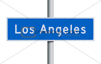 Los Angeles road sign