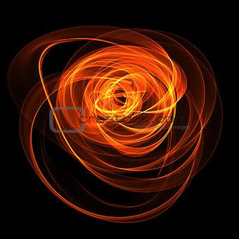 abstract fiery nebula