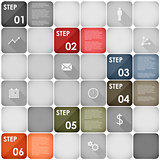 Squares design element steps template