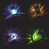 Set of Vector glowing light effect stars