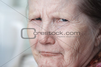 tough looking old woman