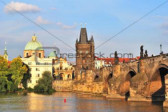 Prague. Old Town at sunset