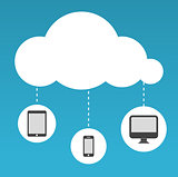 Cloud Computing abstract illustration