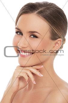 Beautiful girl with perfect skin