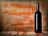 Black bottle of wine texture
