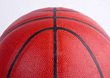 Basketball Close up Partial View Isolated on White Pebbled Patte