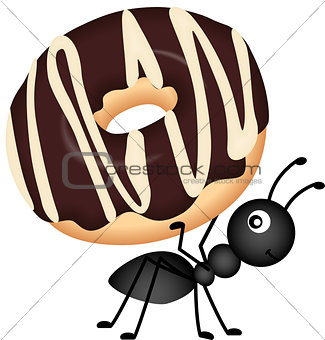 Ant Carrying Donut