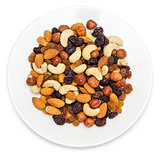 Nuts in plate