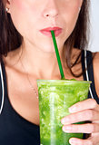 Lips sip Green Fruit Food Smoothie