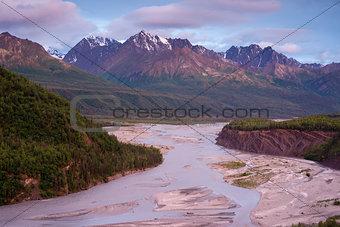 Alaska Mountain River Chugach Range Last Frontier