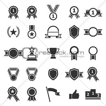 Award icons on white background