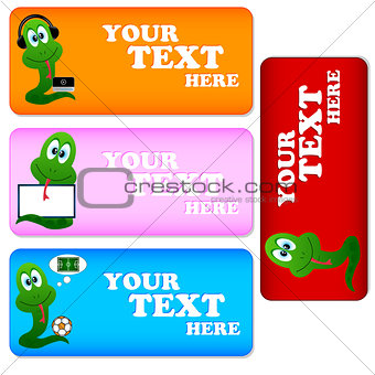 Cards with snakes