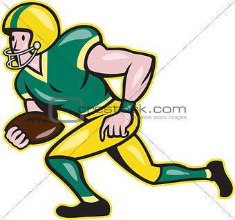 American Football Wide Receiver Running Ball