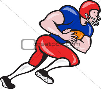 American Football Running Back Rushing
