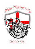 Happy St George Stand Tall Proud to be English Retro Poster