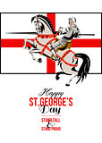 Stand Tall Stand Proud Happy St George Day Retro Poster