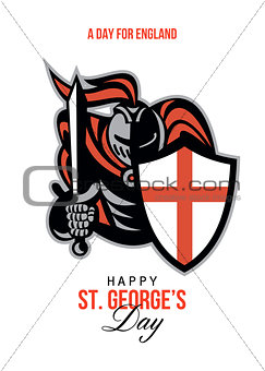 A Day for England Happy St George Greeting Card