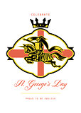 Celebrate St. George Day Proud to Be English Retro Poster