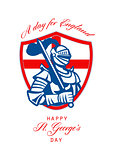 Happy St George A Day for England Greeting Card