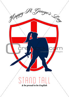 Be Proud to Be English Happy St George Day Poster