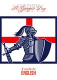 Proud to Be English Happy St George Day Card