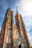 cathedral church in Wroclaw Ostrow Tumski
