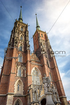 cathedral church in Wroclaw Ostrow Tumski