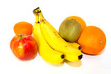 Fresh colorful fruits isolated