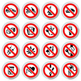 Set Prohibited symbols on paper stickers