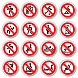 Prohibited signs paper sticky