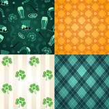 Four st.Patrick's Day's patterns
