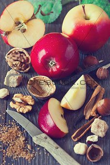 Apples and spices.