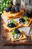 Blue cheese crackers.