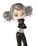 3d Toon fashion girl