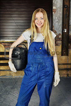 Beautiful Woman with Welder