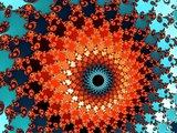 Red fractal spiral