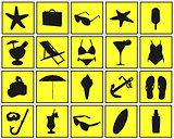 vacation symbols