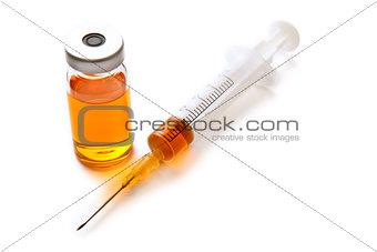 Syringe and drug