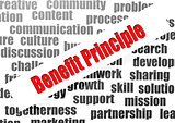 Benefit principle word cloud